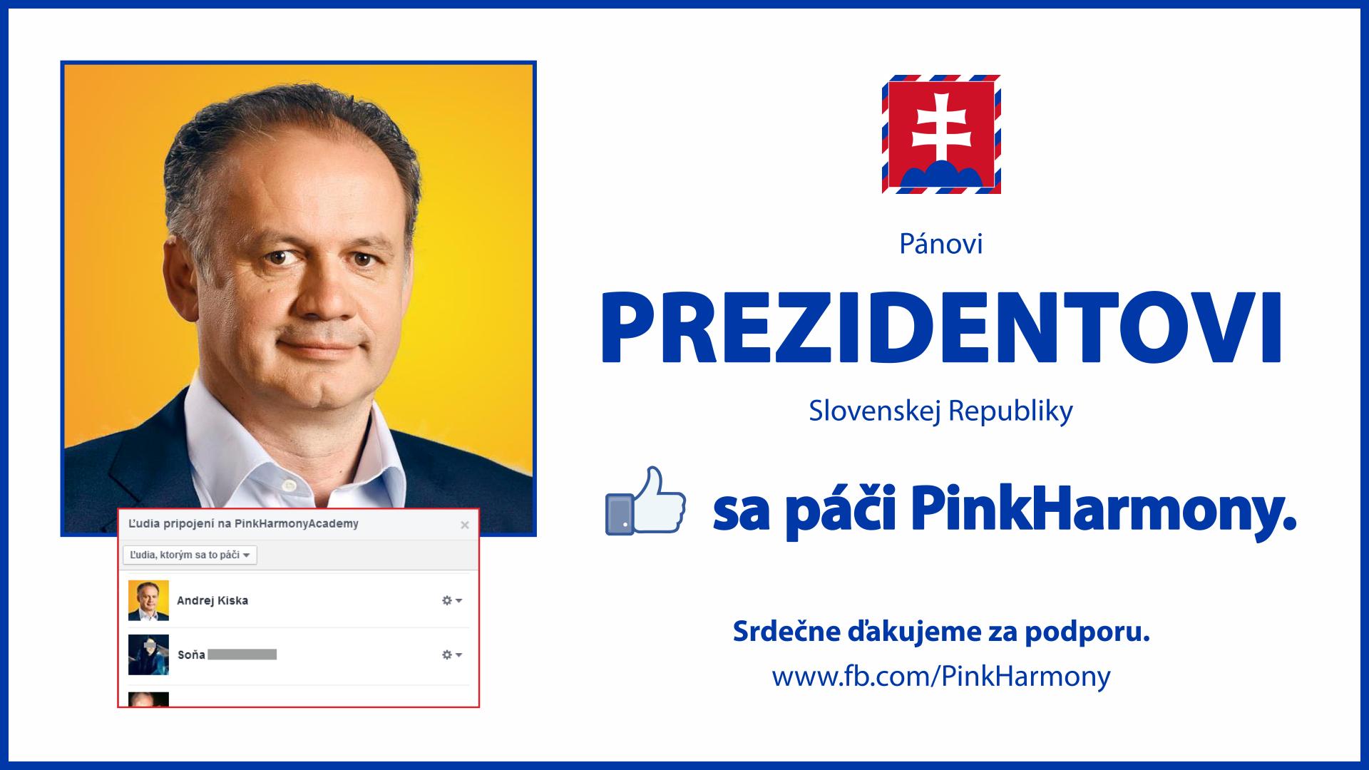 Prezidentovi sa páči PinkHarmony!
